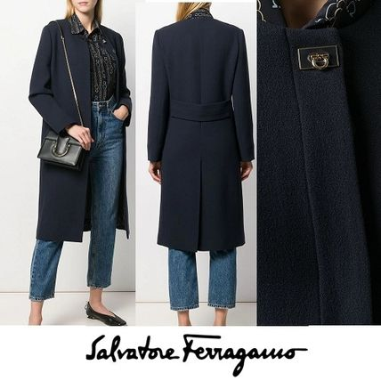 Wool Plain Coats