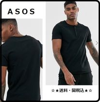 ASOS Henry Neck Street Style Plain Cotton Short Sleeves