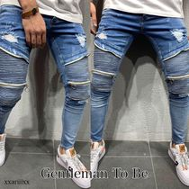 Gentleman To Be Stripes Denim Street Style Jeans & Denim