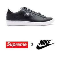 Supreme Unisex Blended Fabrics Street Style Sneakers
