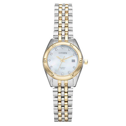 Blended Fabrics Round Quartz Watches Stainless With Jewels