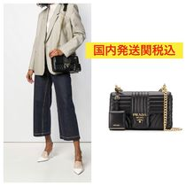 PRADA DIAGRAMME Casual Style Street Style 2WAY Bi-color Chain Plain