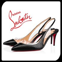 Christian Louboutin Blended Fabrics Other Animal Patterns Leather Pin Heels