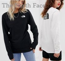 THE NORTH FACE Street Style Long Sleeves Plain Cotton Long Sleeve T-Shirts