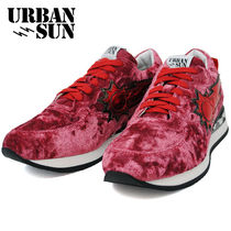 URBAN SUN Rubber Sole Casual Style Suede Low-Top Sneakers