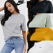 Nike Crew Neck Street Style Plain Cotton Long Short Sleeves