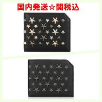 Jimmy Choo Unisex Studded Street Style Folding Wallets