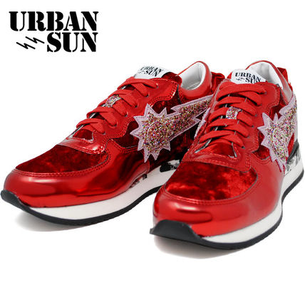 URBAN SUN Low-Top Rubber Sole Casual Style Suede Low-Top Sneakers