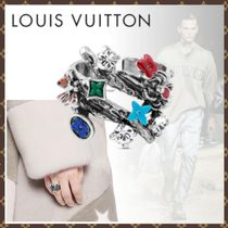 Louis Vuitton Flower Patterns Monogram Blended Fabrics Metal Rings