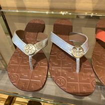 Tory Burch Plain Leather Logo Sandals Sandal