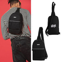 NASTYKICK Casual Style Unisex Street Style Collaboration Plain Bags