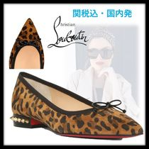 Christian Louboutin Suede Blended Fabrics Studded Other Animal Patterns