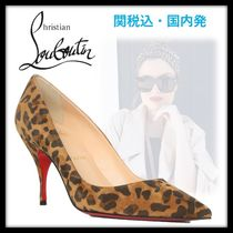 Christian Louboutin Suede Other Animal Patterns Pin Heels Elegant Style