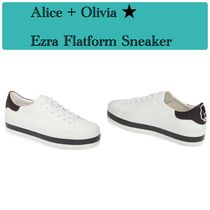 Alice+Olivia Casual Style Leather Low-Top Sneakers