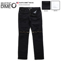 Unisex Street Style Plain Cotton Jeans & Denim