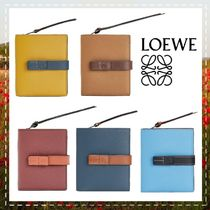 LOEWE Unisex Calfskin Plain Folding Wallets