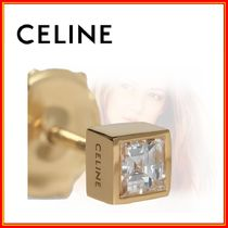 CELINE 18K Gold Elegant Style Earrings