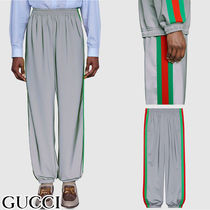 GUCCI Stripes Unisex Street Style Pants