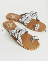Missguided Casual Style Other Animal Patterns Sandals