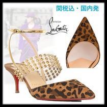 Christian Louboutin Suede Studded Other Animal Patterns Pin Heels Elegant Style