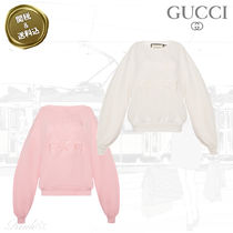 GUCCI Crew Neck Long Sleeves Plain Cotton Oversized