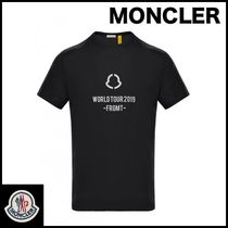 MONCLER Street Style Collaboration Plain Cotton T-Shirts