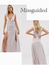Missguided Maxi Sleeveless V-Neck Plain Long Home Party Ideas Dresses