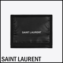 Saint Laurent Unisex Nylon Street Style Folding Wallets