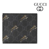 GUCCI Street Style Leather Folding Wallets