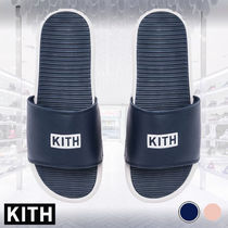 KITH NYC Street Style Leather Shower Shoes Shower Sandals