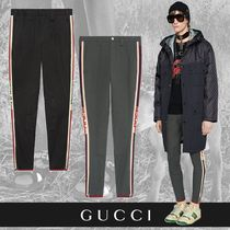 GUCCI Unisex Street Style Cotton Cropped Pants