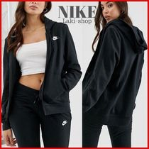 Nike Casual Style Unisex Long Sleeves Cotton Long Dresses