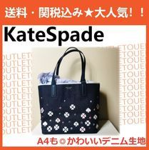 kate spade new york Flower Patterns A4 Office Style Totes