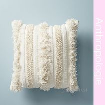 Anthropologie Plain Fringes Decorative Pillows