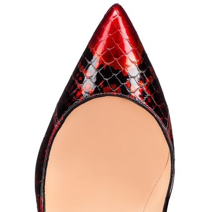hot sale online a6944 1a5da Christian Louboutin Pigalle Follies 2019-20AW Leather Pin Heels Python  Elegant Style (3190026R251)