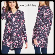 Laura Ashley Flower Patterns Long Sleeves Tunics