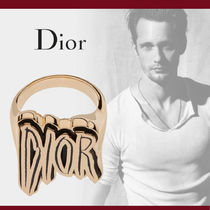 Christian Dior Blended Fabrics Leather Rings