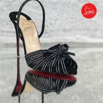 Christian Louboutin Open Toe Blended Fabrics Studded PVC Clothing With Jewels