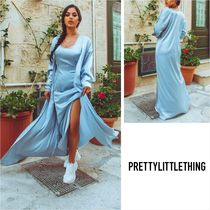 PrettyLittleThing Casual Style Plain Long Outerwear