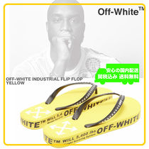Off-White Unisex Street Style Sandals