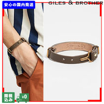 GILES&BROTHER Unisex Street Style Leather Bracelets