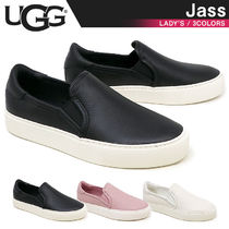 UGG Australia JASS Plain Leather Slip-On Shoes