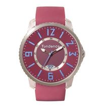 TENDENCE Casual Style Unisex Silicon Round Quartz Watches