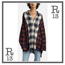 R13 Casual Style Unisex Long Sleeves Cotton Shirts & Blouses
