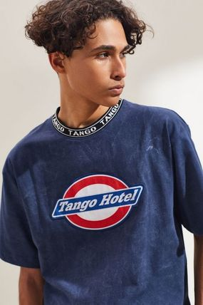Crew Neck Pullovers Street Style Cotton Short Sleeves Logo