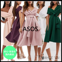 ASOS A-line V-Neck Plain Medium Party Style Dresses