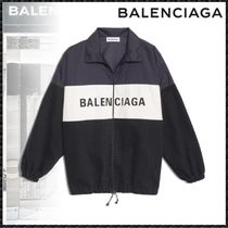 BALENCIAGA Casual Style Nylon Blended Fabrics Bi-color Medium Jackets