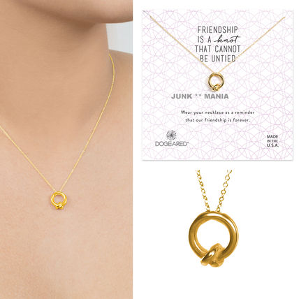 Dogeared Casual Style Silver 14K Gold Necklaces & Pendants