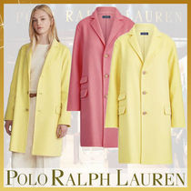Ralph Lauren Wool Plain Medium Elegant Style Peacoats