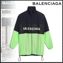 BALENCIAGA Casual Style Nylon Bi-color Medium Oversized Jackets